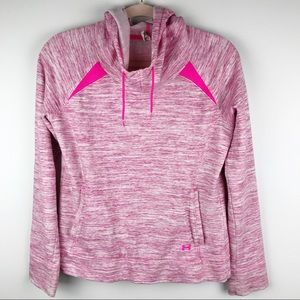 Under Armour Storm Cowl Neck Hoodie Pink Marled M